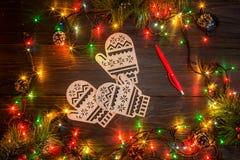 Mokcup Нового Года и рождества Стоковая Фотография