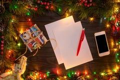 Mokcup Нового Года и рождества Стоковое фото RF