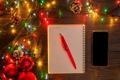 Mokcup Нового Года и рождества Стоковые Фотографии RF