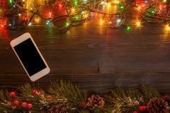 Mokcup Нового Года и рождества Стоковая Фотография RF
