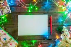 Mokcup Нового Года и рождества Стоковые Фото
