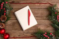 Mokcup del Año Nuevo y de la Navidad Fotografía de archivo