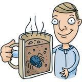 Mokdwarsdoorsnede met Insect stock illustratie