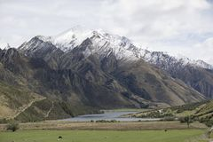 Moke Lake and surrounds, Queenstown, New Zealand. Moke Lake is a small lake near the suburb of Closeburn in Queenstown, in the South Island of New Zealand Royalty Free Stock Photos