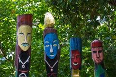 moken totem полюса стоковая фотография rf