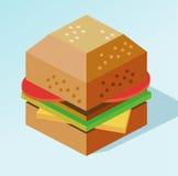 Mokeup dell'hamburger Fotografia Stock Libera da Diritti