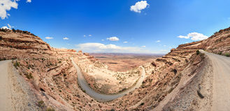 Moki Dugway Muley Point Overlook at Valley of the Gods Utah USA. Moki Dugway Muley Point Overlook at Valley of the Gods Utah  USA Royalty Free Stock Photography