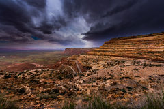 Moki Dugway Overlook Royalty Free Stock Images