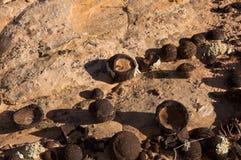 Moki Hill, Utah, USA. At the Moki Holls are lying thousands of stone balls, called Moqui Marbles Royalty Free Stock Photography