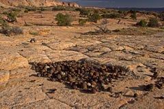 Moki Hill, Utah, USA. At the Moki Holls are lying thousands of stone balls, called Moqui Marbles Royalty Free Stock Photo