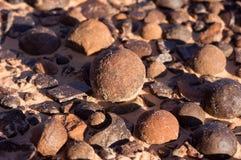 Moki Hill, Utah, USA. At the Moki Holls are lying thousands of stone balls, called Moqui Marbles Stock Photography