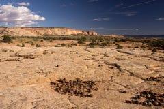 Moki Hill, Utah, USA. At the Moki Holls are lying thousands of stone balls, calledMoqui Marbles Stock Image