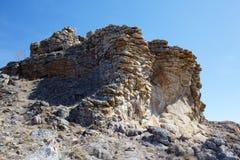 Mokiet skały blisko Baikal jeziora Fotografia Stock