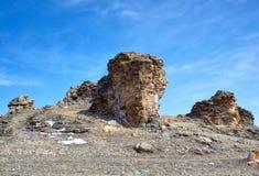 Mokiet skały blisko Baikal jeziora Zdjęcie Royalty Free