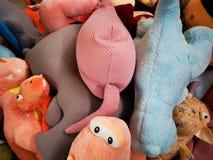 Mokiet zabawki dla dzieci - postacie obraz royalty free
