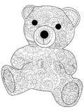 Mokiet zabawki niedźwiedź barwi raster dla dorosłych Zdjęcie Royalty Free