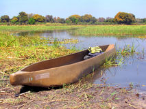 Mokoro boat Royalty Free Stock Photos