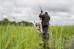 Free Mokoro Canoe Trip In The Okavango Delta Near Maun, Botswana Stock Photos - 90805683