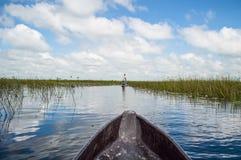 Free Mokoro Canoe Trip In The Okavango Delta Near Maun, Botswana Stock Photo - 90872010