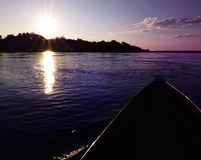 Mokoro canoe trip Royalty Free Stock Photography