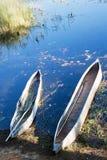 Mokoros nel delta di okavango Immagine Stock Libera da Diritti