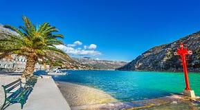 Mokosicadistrict van Dubrovnik Kroatië stock foto