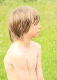 Mokra chłopiec Zdjęcia Stock