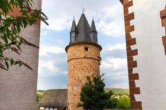 Mokra historyczna wioska Hesse Germany zdjęcia royalty free