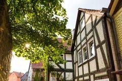 Mokra historyczna wioska Hesse Germany obrazy stock