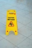 mokra ostrożności podłoga Fotografia Royalty Free