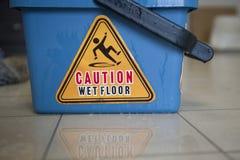 mokra ostrożności podłoga Obrazy Stock