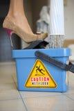 mokra ostrożności podłoga Zdjęcia Royalty Free