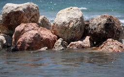 mokre kamienie Fotografia Stock