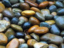 mokre kamienie Zdjęcie Stock