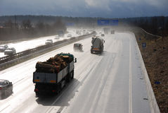 mokry autobahn Obraz Stock