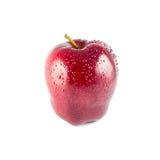 Mokry czerwony jabłko odizolowywający fotografia royalty free