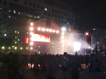 Mokry festiwal muzyki Obraz Royalty Free