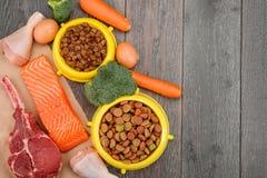 Mokry - i - suchy zwierzęcia domowego jedzenie zdjęcie stock