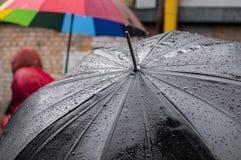 Mokry parasol Fotografia Royalty Free