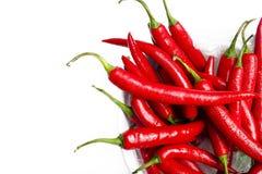 Mokrzy chili pieprze Zdjęcie Stock