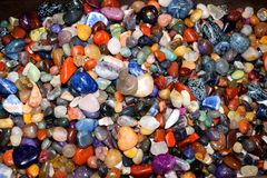 Mokrzy klejnotów kamienie Fotografia Stock