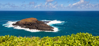 Moku 'Ae'ae Island near Kauai. Panoramic view of Moku 'Ae'ae Island from Kilauea Point, Kauai Stock Images
