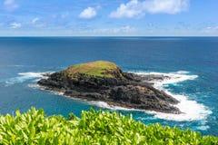 Mokuaeae Island in Kilauea Point, Hawaii Stock Images