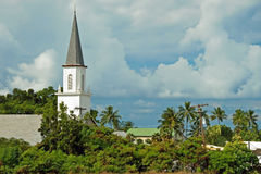 Mokuaikaua church in Kona on Big Island of Hawaii Royalty Free Stock Images