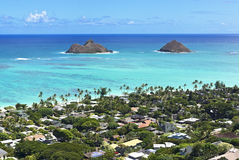 Mokulua islands Stock Image