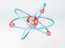 Molécula, átomo en el fondo blanco Foto de archivo