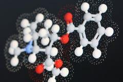 Molécula 2 de la cocaína Fotos de archivo libres de regalías
