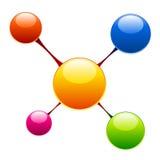 Molécula Imagenes de archivo
