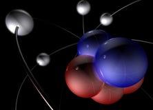 Molécula 3 del átomo stock de ilustración