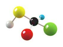 molécula 3d. Imagens de Stock